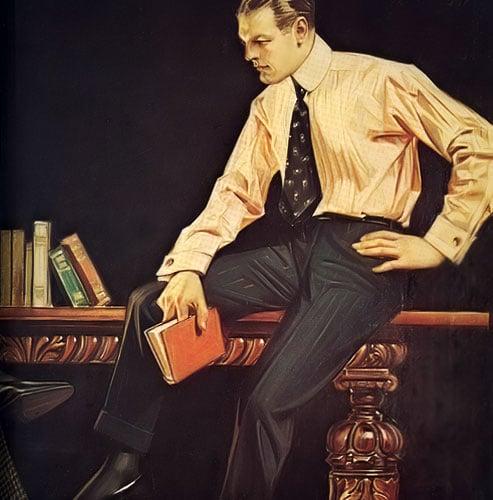 hombre y libro