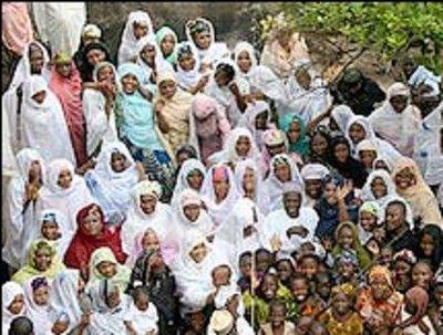 mujers e hijos de mohammad nigeriano