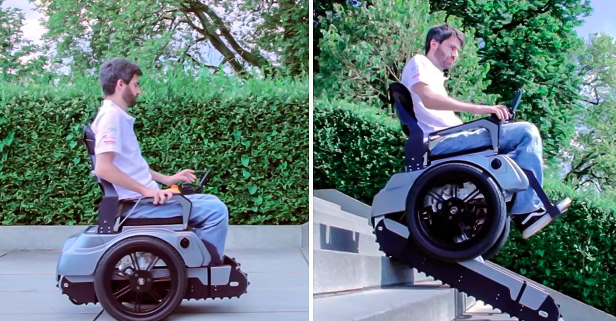 Inventan incre ble silla de ruedas que puede subir escaleras for Silla de ruedas para subir escaleras