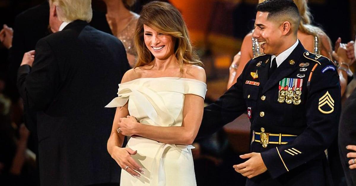 Cadete Puertorriqueño Hizo Sonreír A Melania Trump COVER-sargento-latino-hizo-lo-que-trump-no-pudo-con-su-esposa-y-le-aplauden