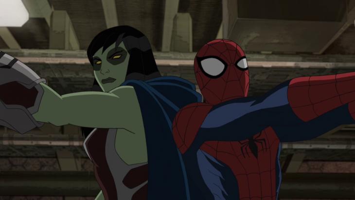 Spider man y Gamora
