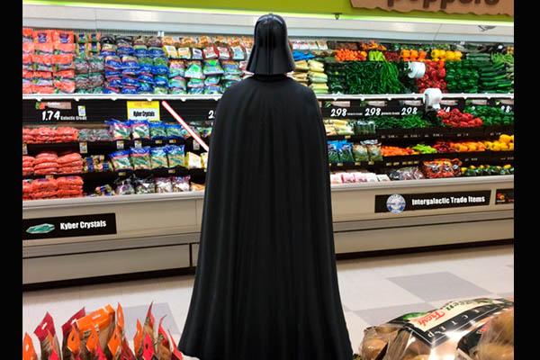 Darth Supermarket Vader