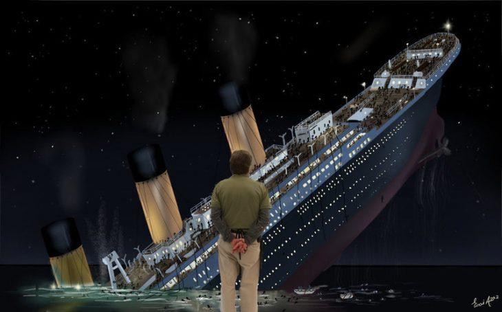 Photoshop hombre titanic