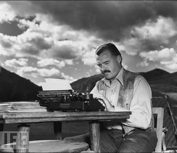 escritor maquina escribir
