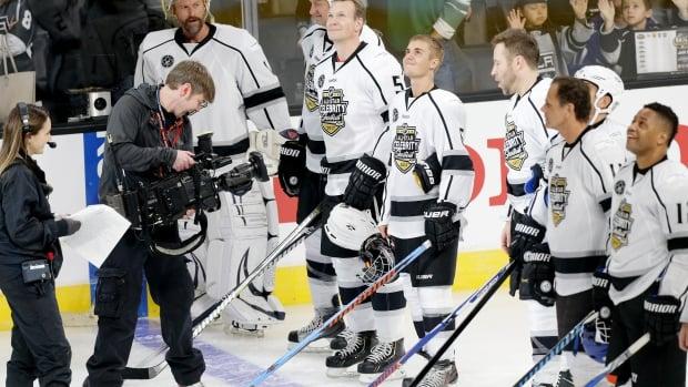 Justin Bieber All stars NHL
