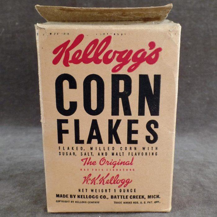 Caja antigua de Corn Flakes