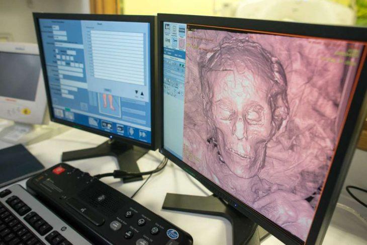 Recreación computarizada del rostro de la momia