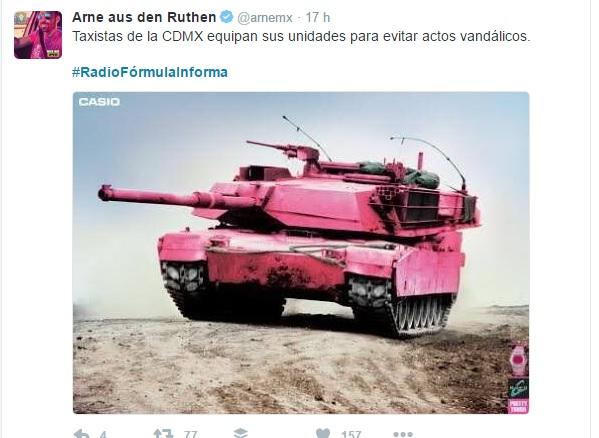 Radio Fórmula errores Tanque de guerra rosa