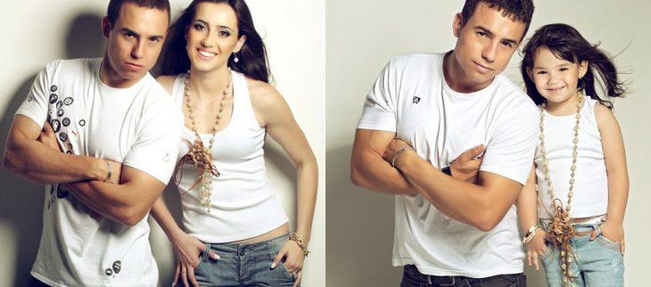 Rafael del Col y su hija sesión de fotos brazos cruzados