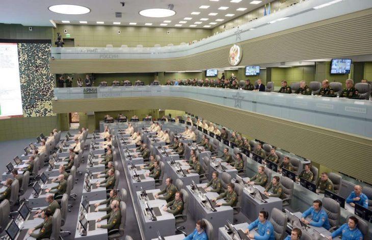 Putin en su sala de guerra