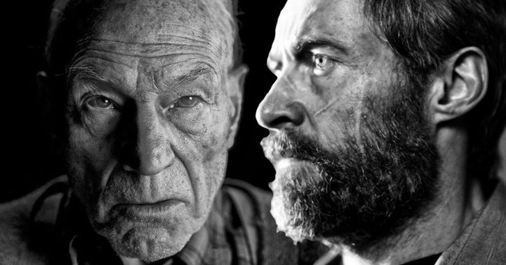 Patrick Stewart y Hugh Jackman despedida