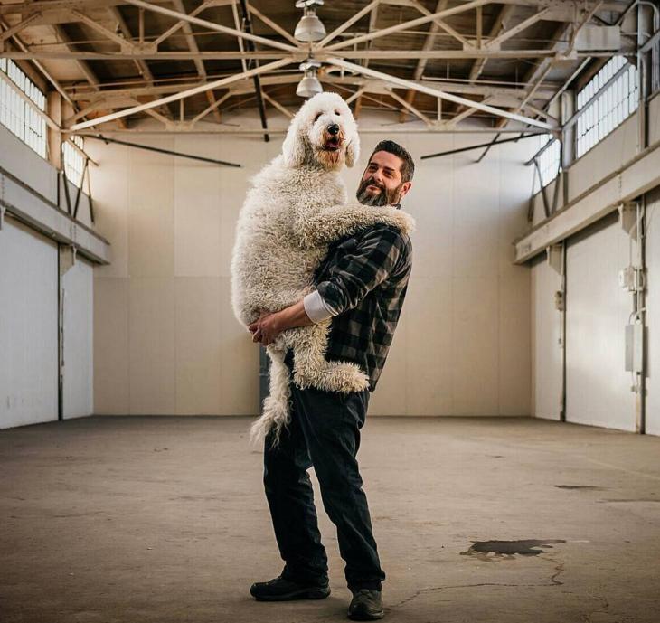Cline y su perro Juji