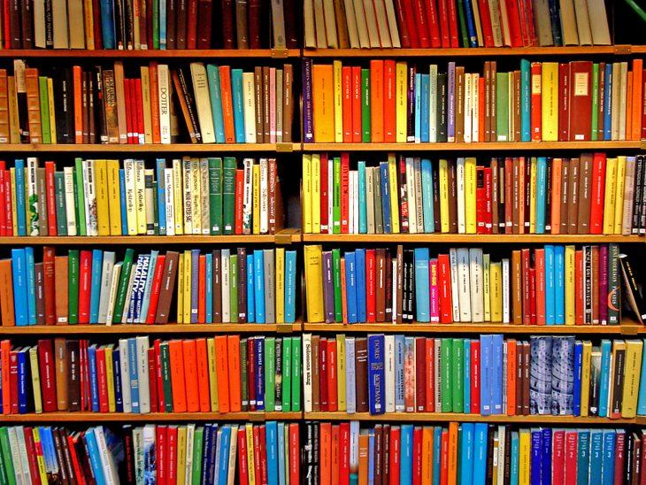 Libros en librero