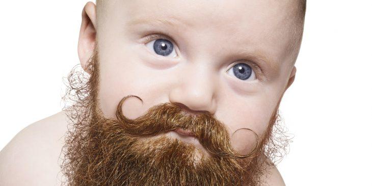 Bebé con barba