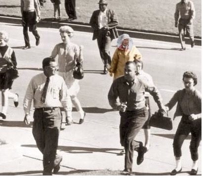 bush ps battle mujer corriendo