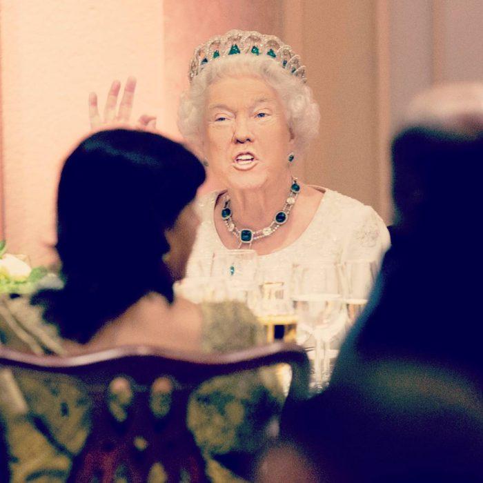 Trum y la reina Isabel discurso