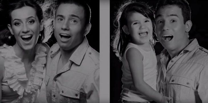 Rafael del Col y su hija sesión de fotos sonrisas