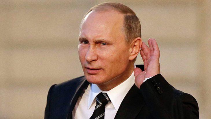 Putin haciendo mueca