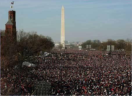 Barack Obama inauguración 2009 1.8 m