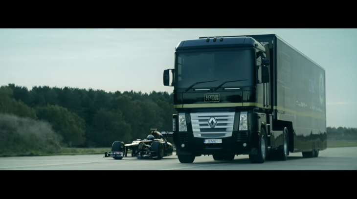 f1 y camion