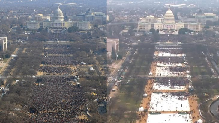 Inauguración de trump vs la de Obama