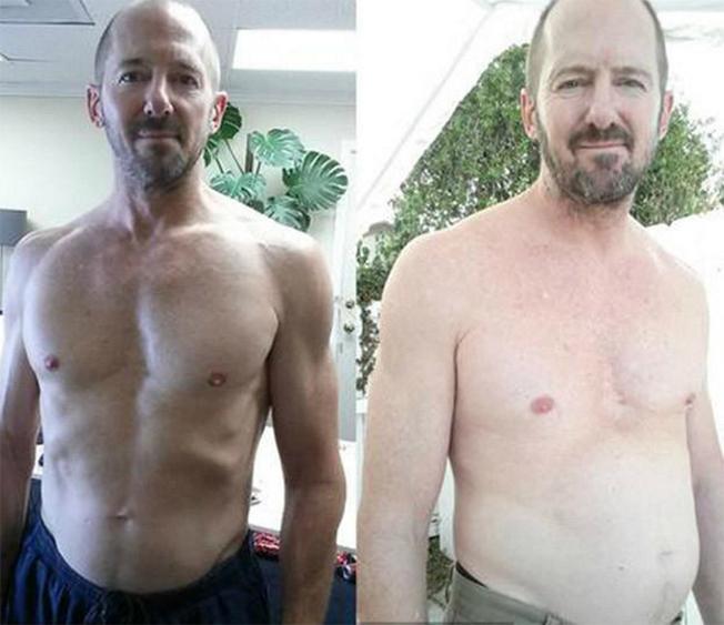 Antes y después de beber demasiada Coca Cola