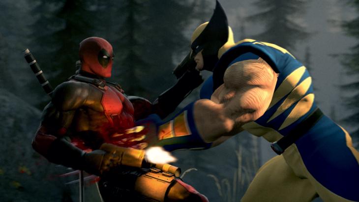 Wolverine pelea con Deadpool