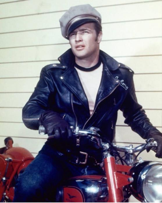 Hombre 1950 moto