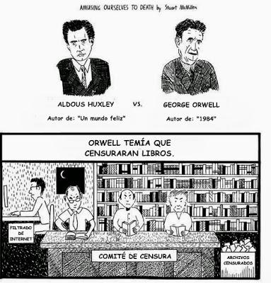 comparacion huxley orwell