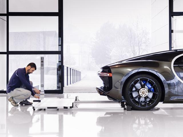 Monocasco trasero de Bugatti chiron