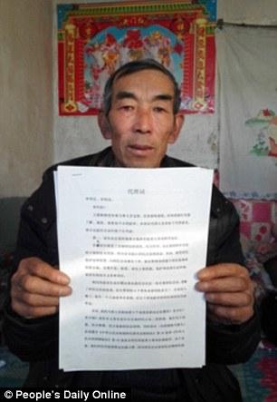 granjero chino demanda
