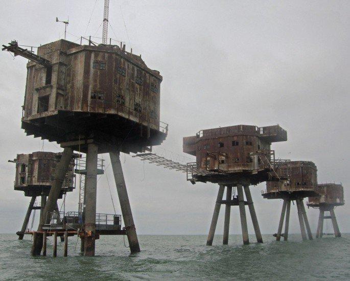 Fuertes en el Mar del Norte