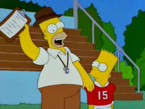 Homero y Bart foot ball