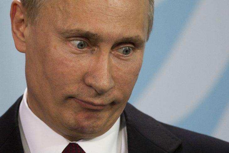 Vladimir Putin expresión rostro