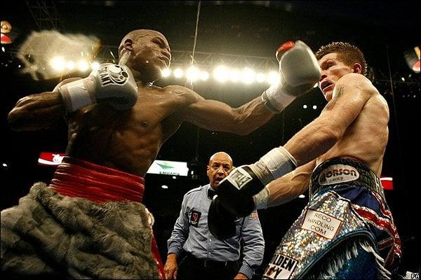 Boxeo golpe