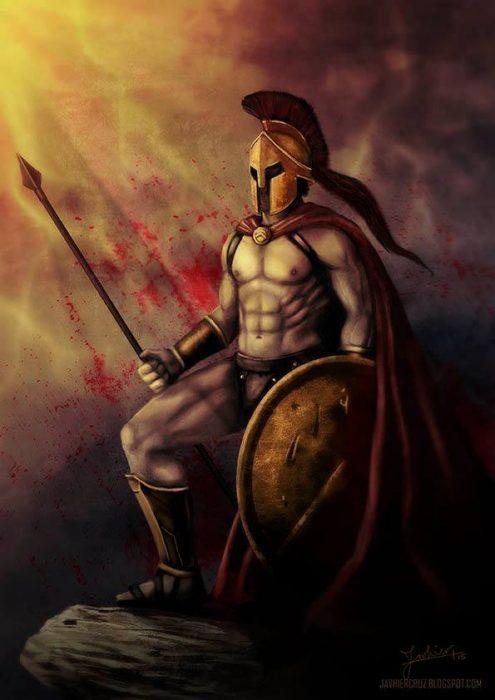Espartano con lanza