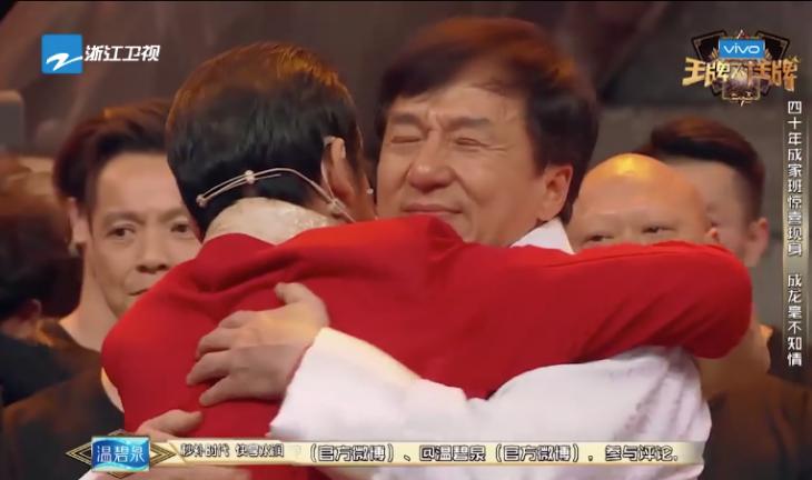 Jackie Chan abrazo
