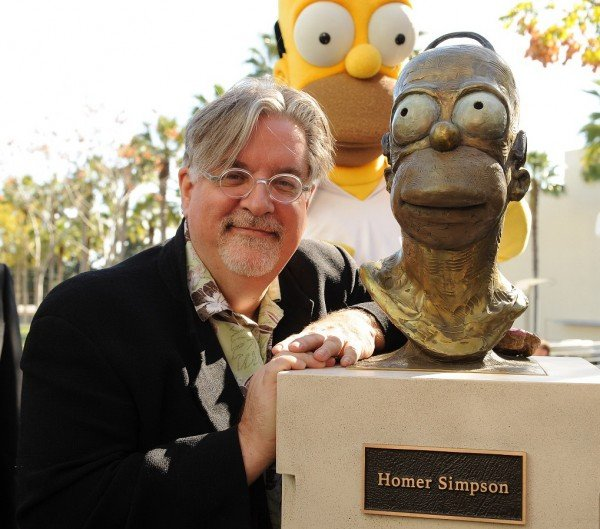 Matt Groening escultura homero