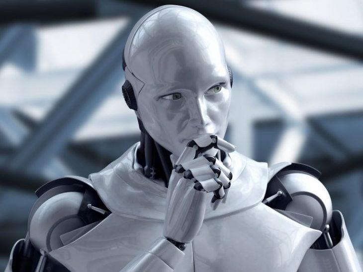 Robot pensativo
