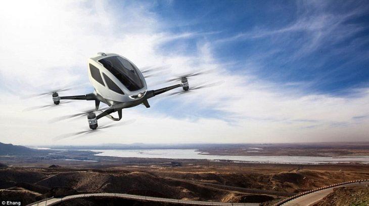 Drone E Hang en vuelo