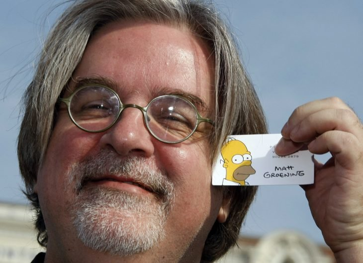 Matt Groening con credencial