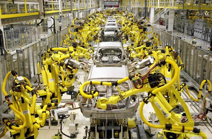 Fábrica de autos robot