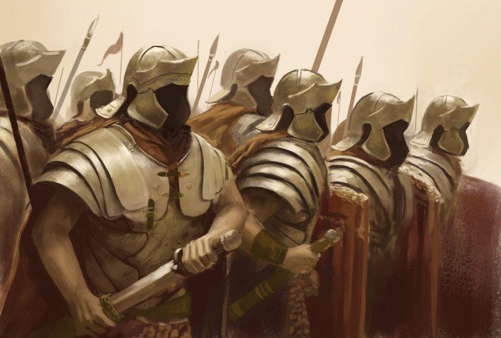 Espartanos guerreros ejército