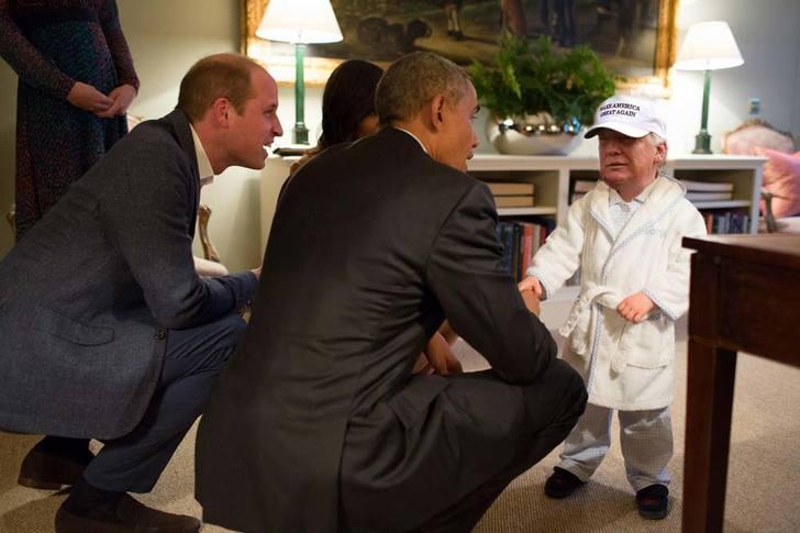 Tiny Trumps pijama Obama