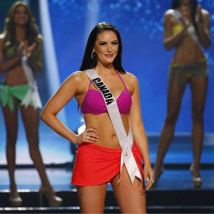 Miss Canadá en bikini
