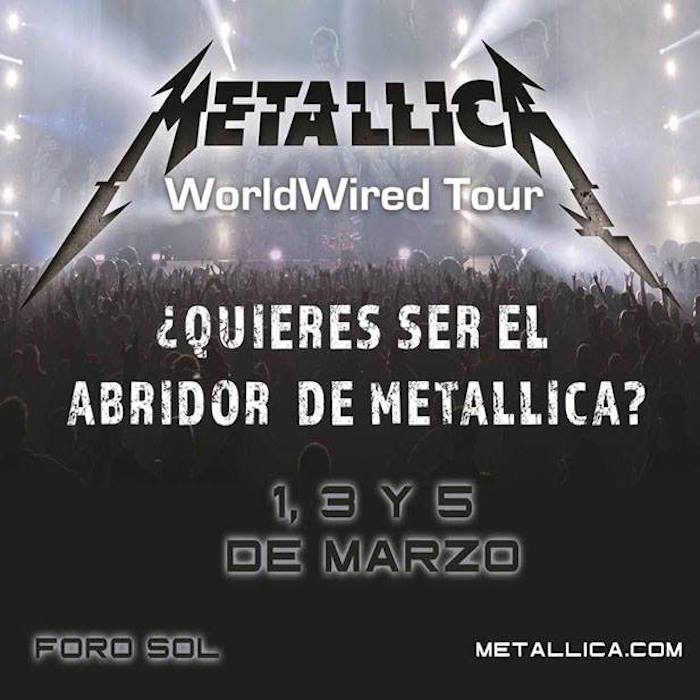 Convocatoria de Metallica