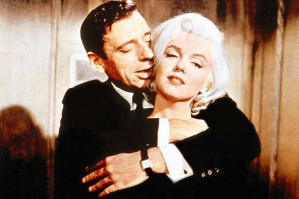 Marilyn y Yves Montand