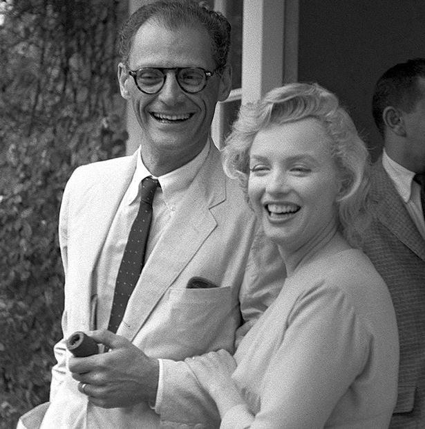 Marilyn Monroe y esposo Arthur Miller