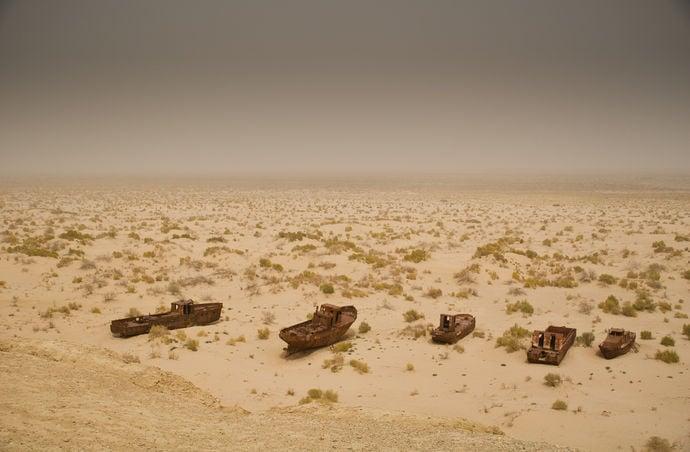 Barcos en el desierto