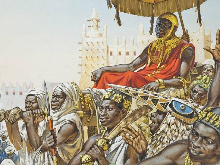 Mansa Munsa cargado por subditos